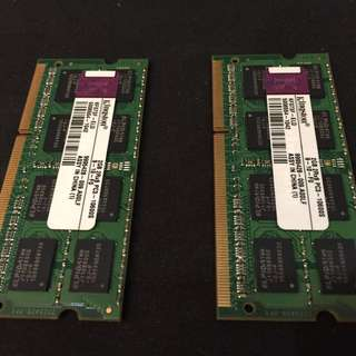 Kingston laptop DDR3 RAM (2GB)