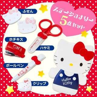 Hello kitty mini stationery set from japan