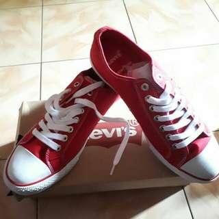 Levi's Sneaker Stan Buck Low Canvas Red