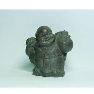 古銅泥 壽翁 茶玩 擺飾