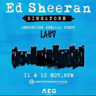 WTS Ed Sheeran Cat 1 x1