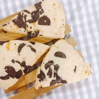 Chocolate Orange Scottish Shortbread