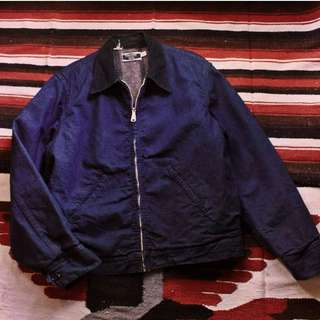 Vintage 70'S Sears 美製老牌燈芯絨領毛毯工作夾克外套 made in USA
