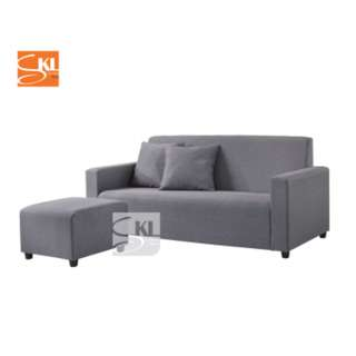 free delivery!! 3 Seater Fabric Sofa with Stool and Pillows