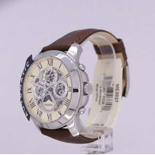 Fossil 透機芯機械腕錶 (ME3027P)- BROWN LEATHER WATCH