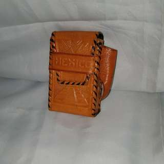 LEATHER HOLDER CASE with Pouch