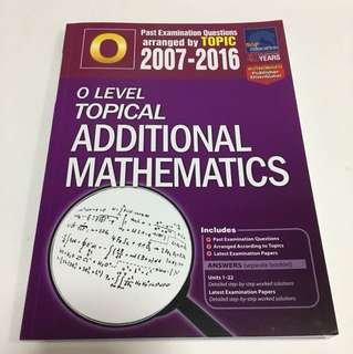 A Math TYS with answer booklet