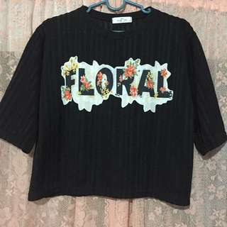 black korean crop top