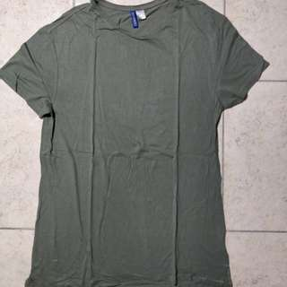 oversized H&M olive green size M