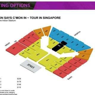 Eason Chan Concert Tickets Cat 1 x 4