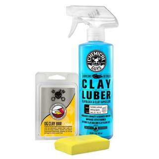 Chemical Guys OG Clay Bar & Luber Synthetic Lubricant Kit, Light/Medium Duty