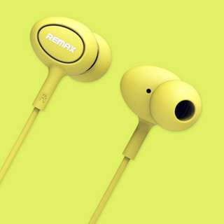 Remax RM-515 In-Ear Music Microphone Earphones for Universal Mobile - Yellow