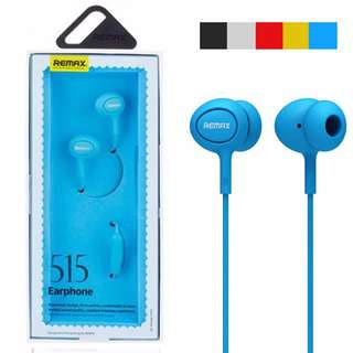 Remax RM-515 In-Ear Music Microphone Earphones for Universal Mobile - Blue