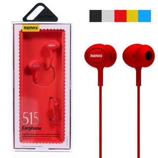 Remax RM-515 In-Ear Music Microphone Earphones for Universal Mobile - Red