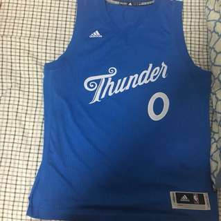 Russell Westbrook 2016-2017 NBA Season Christmas Limited Jersey Large