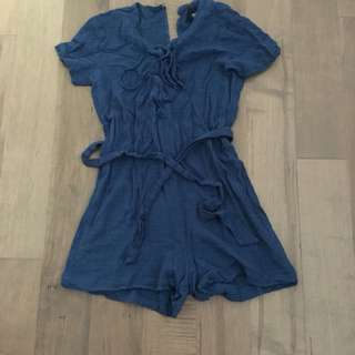 Reformation blue romper
