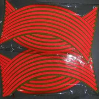 16Pcs Rim Strips Reflective Sticker