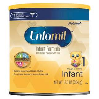 Enfamil Infant Formula Powder 12.5 OZ Canister, From Birth - 12 Months