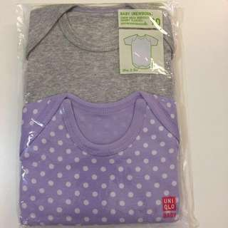 Uniqlo Baby crew neck bodysuit 2pcs (short sleeves)
