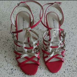 Bellagio Red Ankle strap heels.