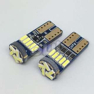 2pcs T10(W5W) 15SMD 4014 Chip LED Light(No error canbus)