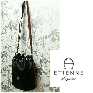 Etienne Aigner Leather Bucket Bag