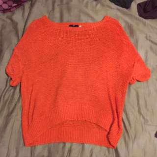H&M orange knit sweater