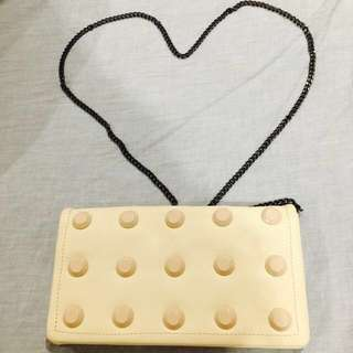 """New Ivory Colour """"Wallet In Chain"""""""
