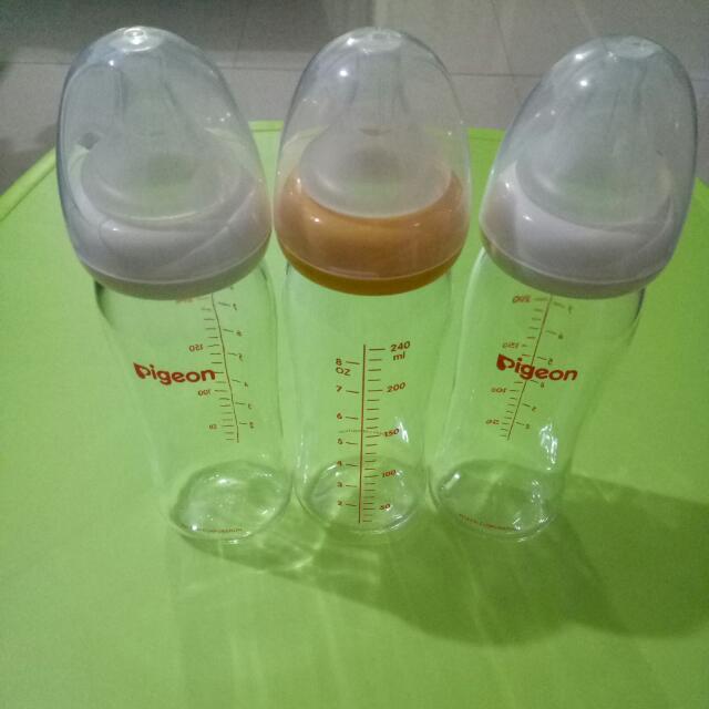 貝親寬口玻璃奶瓶240ml 二手近全新 共三支 可買單支