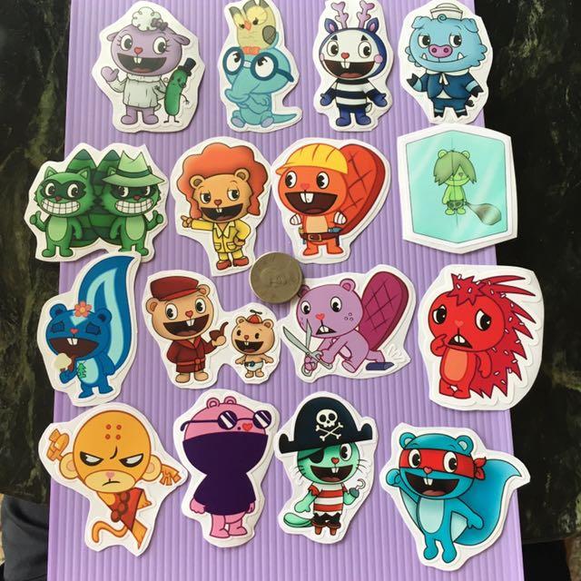 貼紙 10元商品 筆電 滑板 行李箱 快樂樹朋友