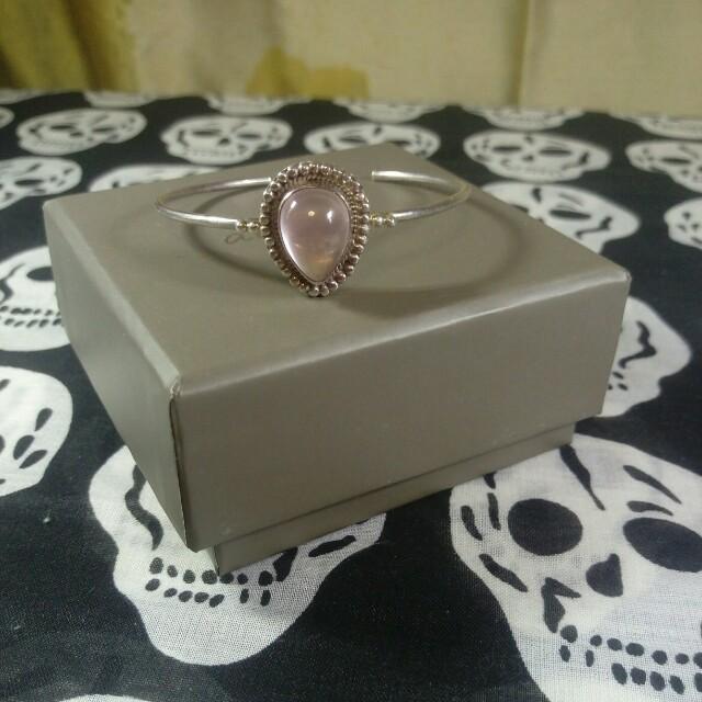 💖💖💖星光粉晶純銀手環