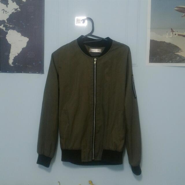 正韓軍綠飛行外套