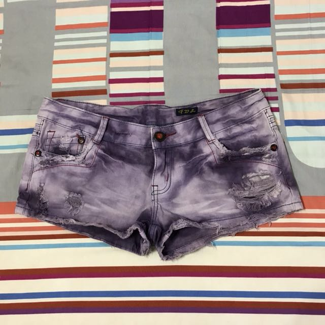 紫色酷帥短褲/熱褲