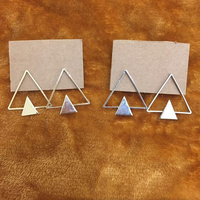 三角耳環(降
