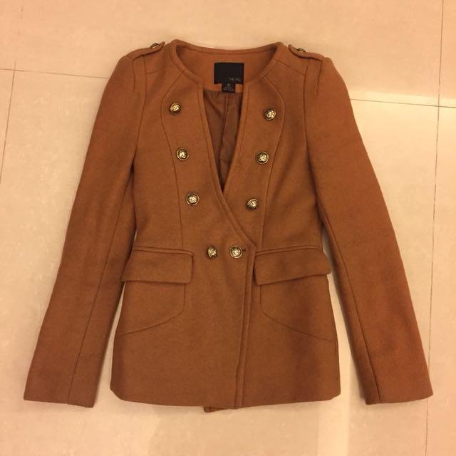 韓版貴族風毛麑西裝外套