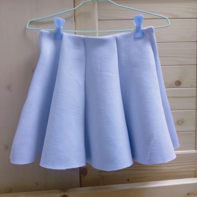 水藍色太空裙 短裙