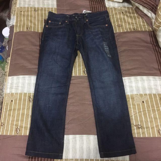 全新 GAP 28*30 窄管牛仔褲