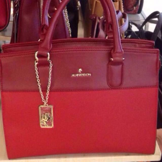 Alain Delon Handbag Red Maroon Women S Fashion Bags Wallets On Carou