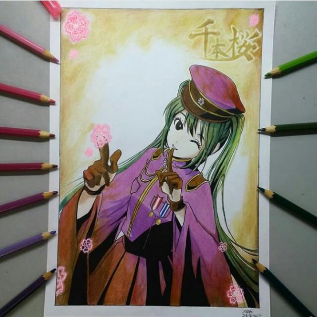 Anime Art Commission Colour Pencil Entertainment J Pop On Carousell