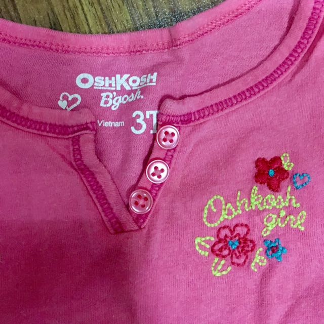 Aut oshkosh b'gosh pink sleeveless shirt 3 yrs old