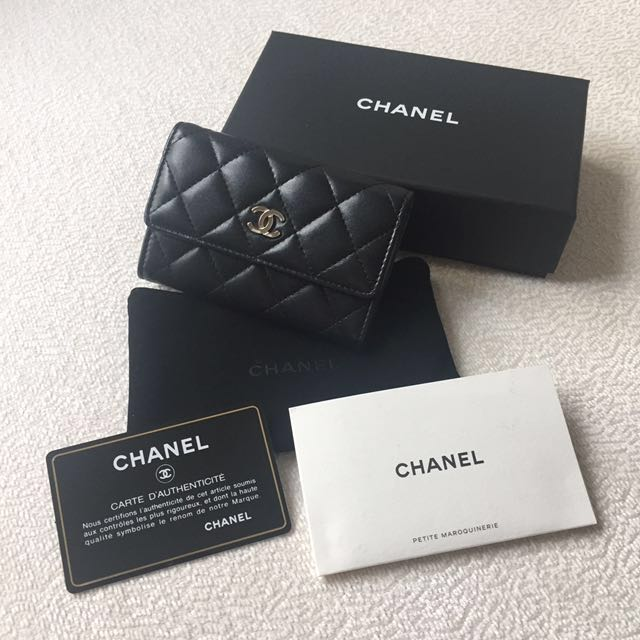 AUTHENTIC CHANEL Lambskin Card Holder