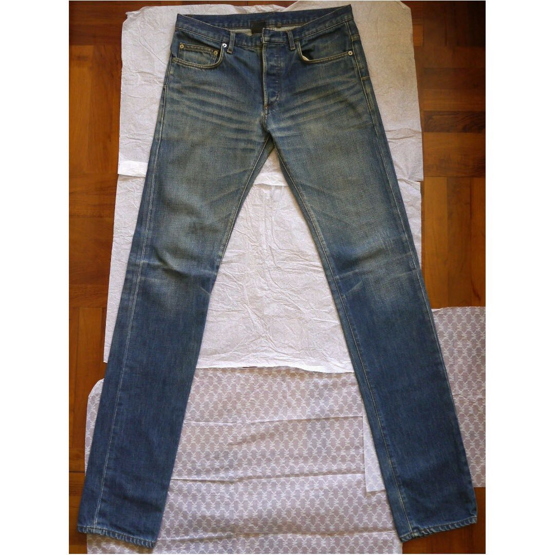 Authentic Dior Homme Blue Clawmark Jeans
