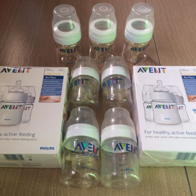 Avent and Chicco Feeding Bottles (11pcs all in all)