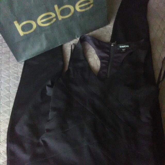Bebe black skinny jumper bandage