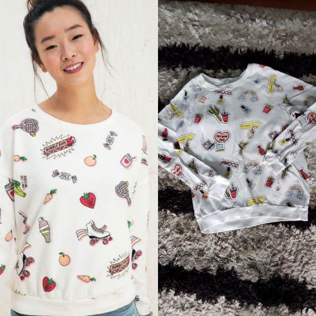 Bershka All Over Print Sweater