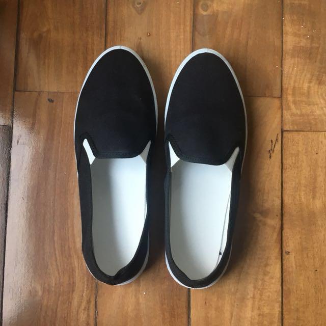 Black Slipons