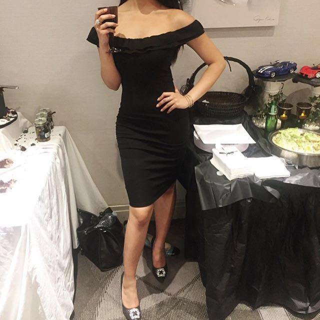 Black Zara Off The Shoulder Dress
