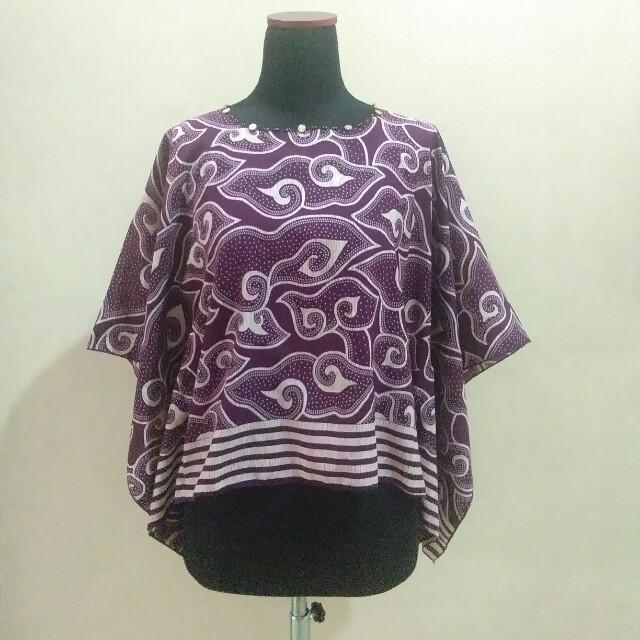 Blouse batik ungu