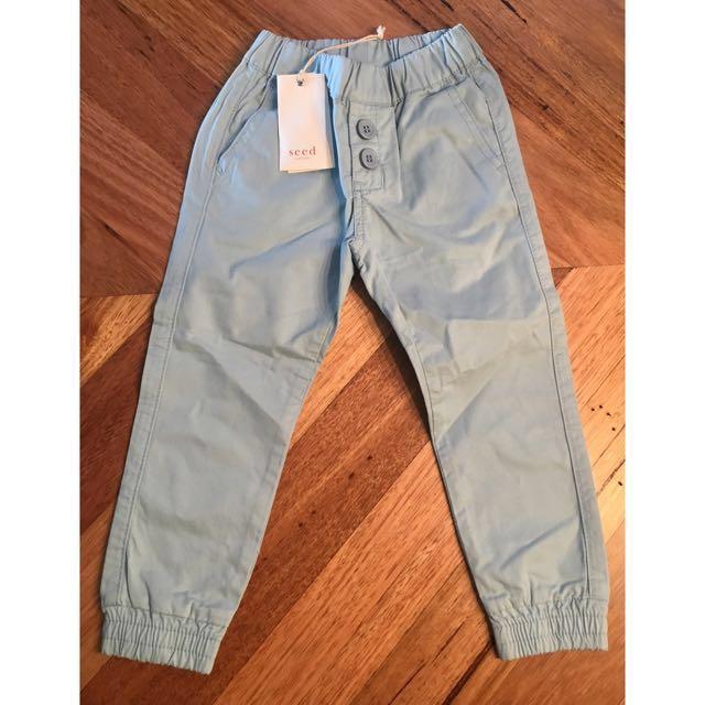 BNWT boys Seed heritage light blue pants, size 1 - 2