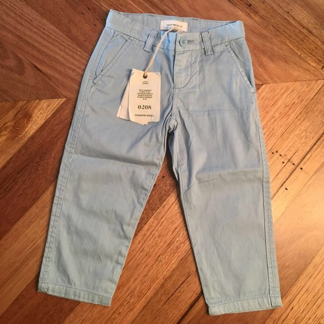 BNWT Country Road pale blue chino pants, size 2